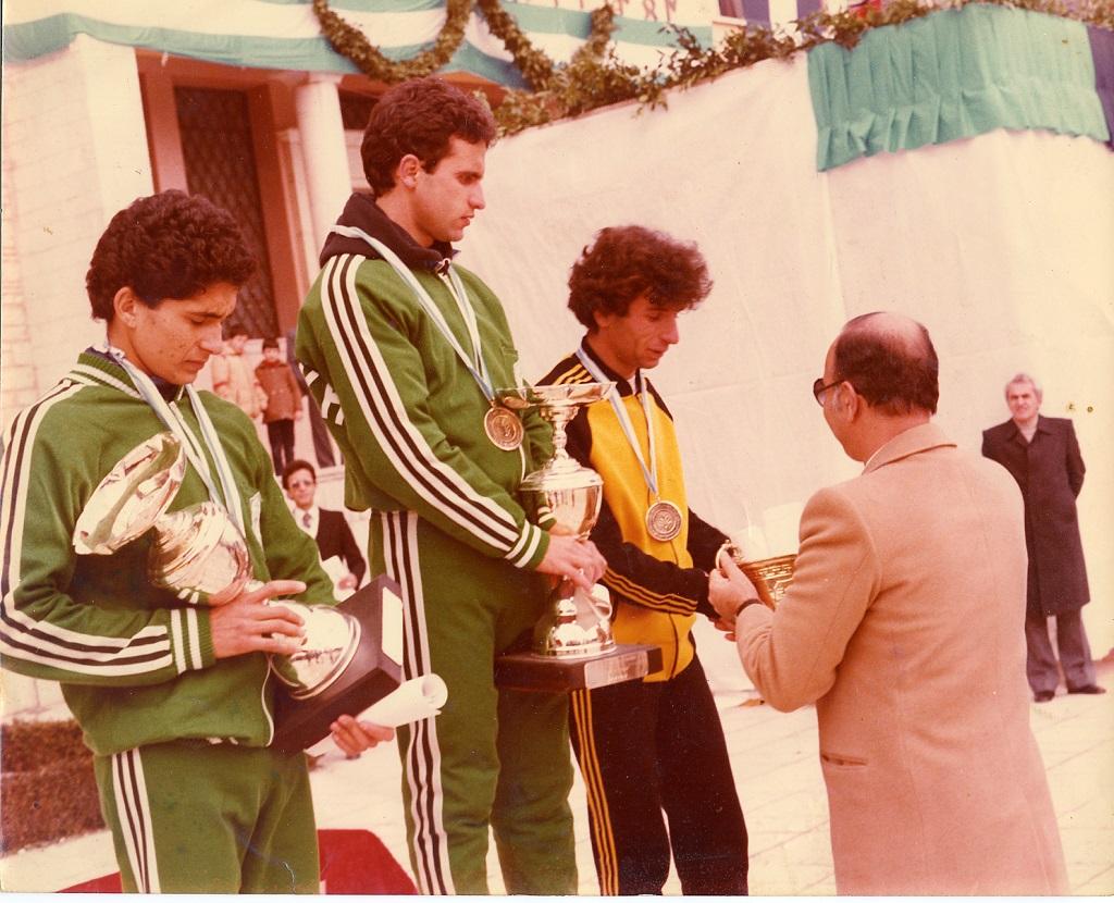 Από αριστερά: Άγνωστος, Παπαγεωργίου, Παναγιώτης Ντάφλος, Άγνωστος